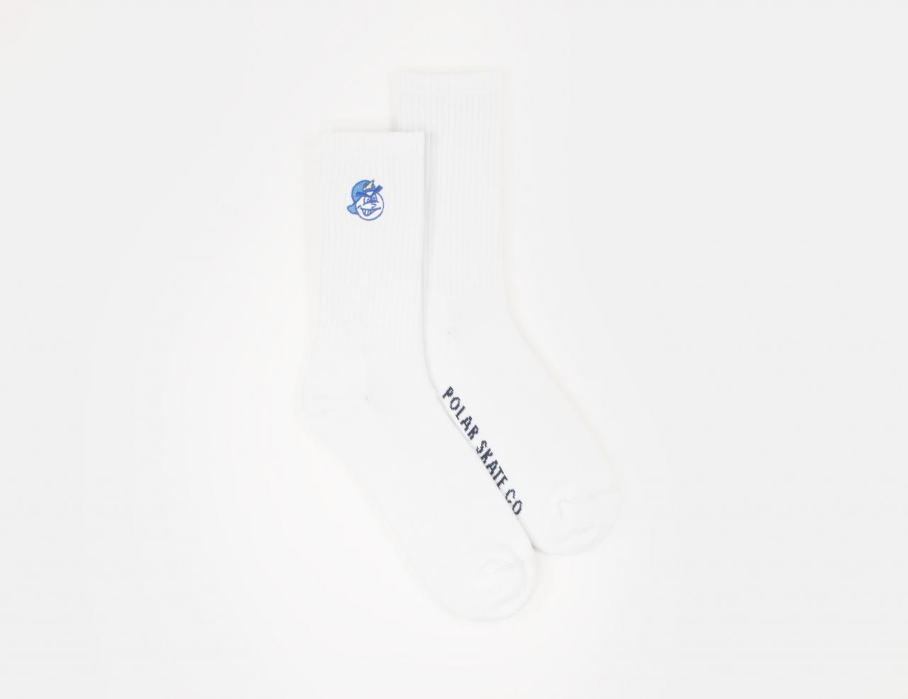 Polar Skate Co. 93 Socks - White