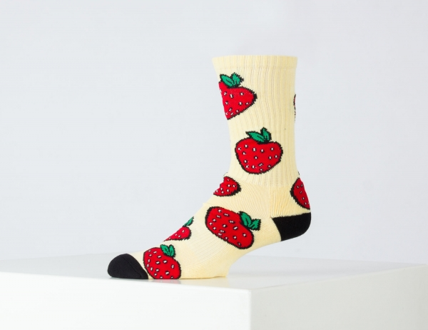 HUF Strawberry Socks - Pale Lemon
