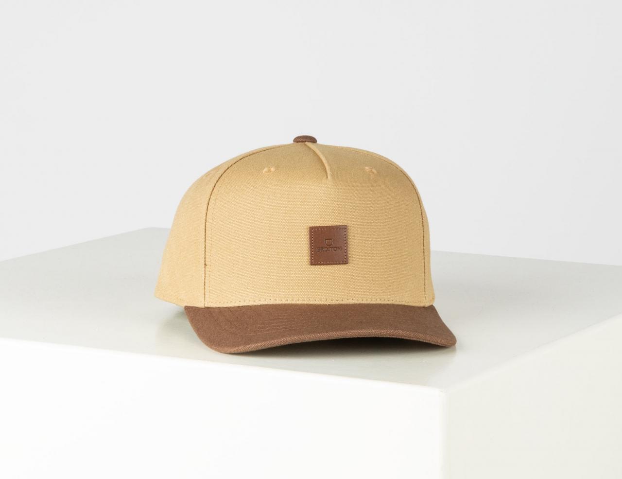 Brixton Alpha C Mp Snapback Cap - Khaki / Dark Khaki