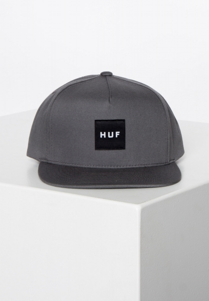 HUF Essentials Box Snapback Cap - Charcoal