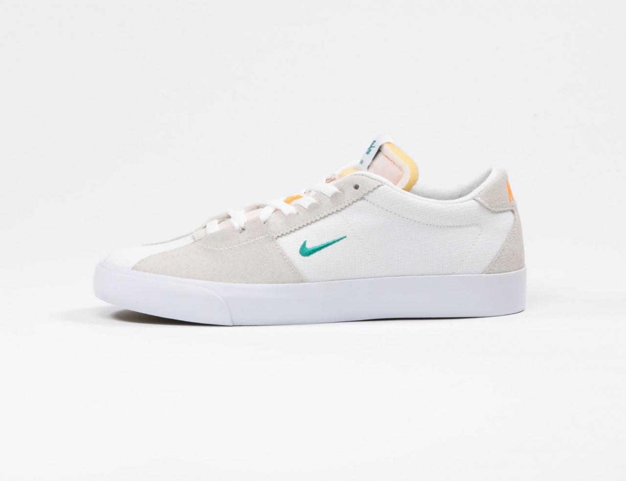 Nike SB Air Zoom Bruin Edge - White/Neptune Green/Vivid Orange