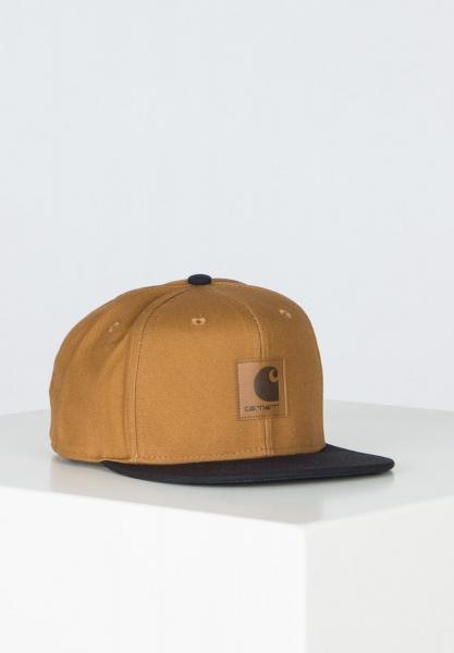 Carhartt WIP Logo Bi-Colored Cap - Hamilton Brown/Black