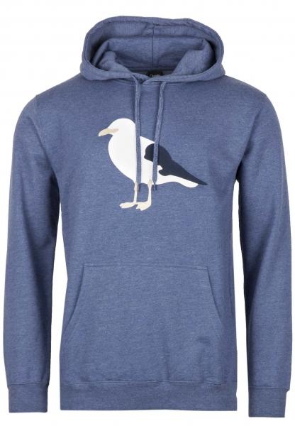 Cleptomanicx Gull 3 Hoodie - Heather Blue