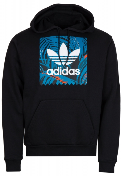 Adidas Bb Print Hoodie - Black/Acttea/Actora