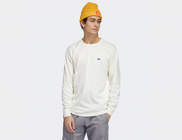 Adidas H Shmoo Longsleeve - Oyster White / Mineral Red