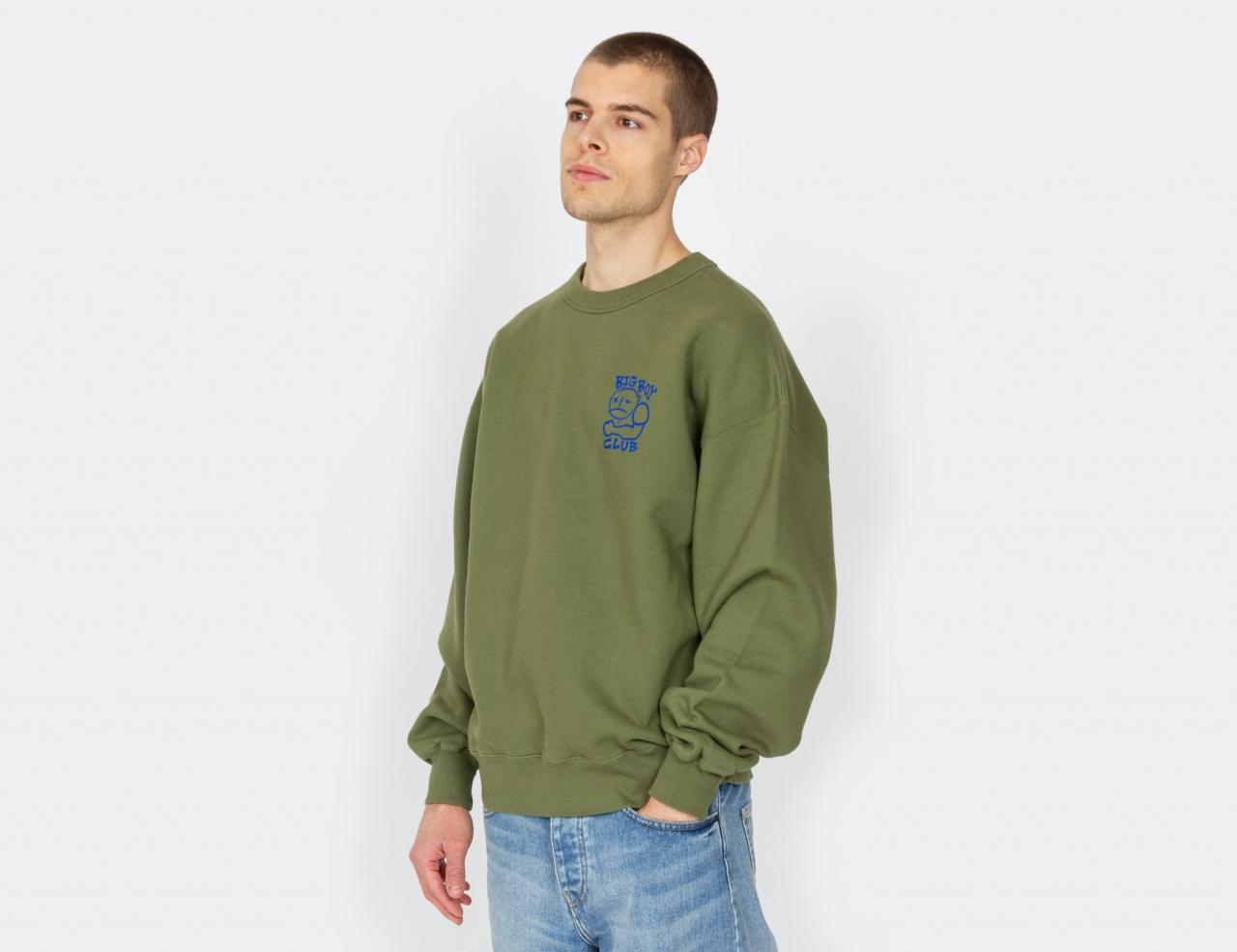 Polar Skate Co. Big Boy Club Crewneck - Army Green