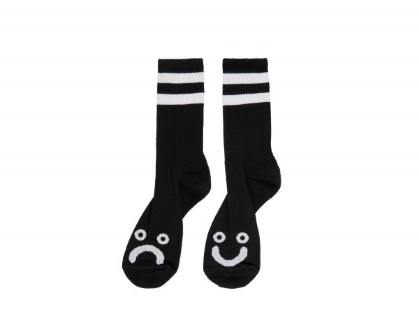 Polar Skate Co. Happy Sad Socks - Black