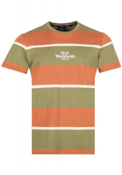 HUF Mazon Stripe T-Shirt - Martini Olive