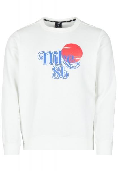 Nike SB Icon Crew Sunrise - White