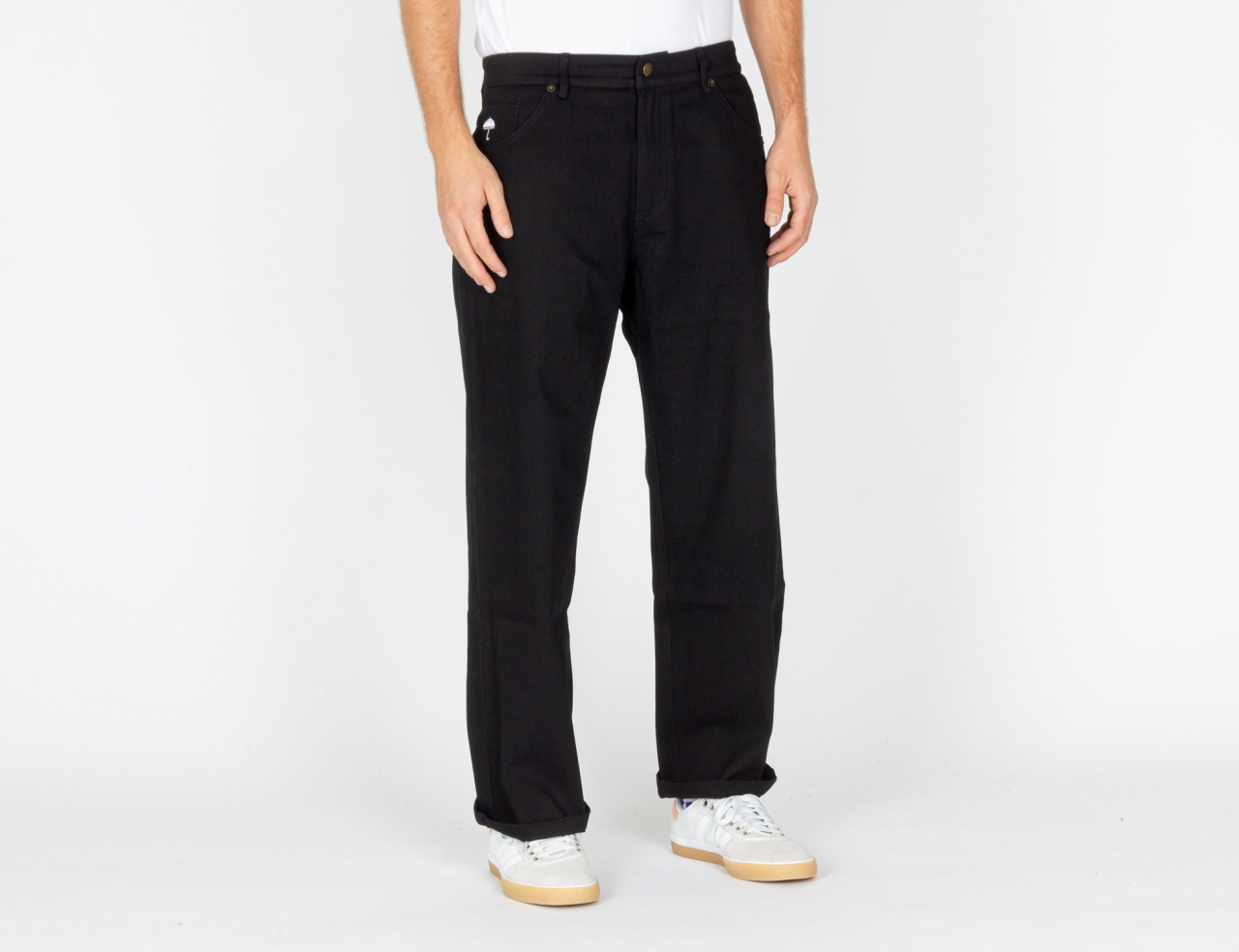 Helas Caps Poppins Denim Pant - Black