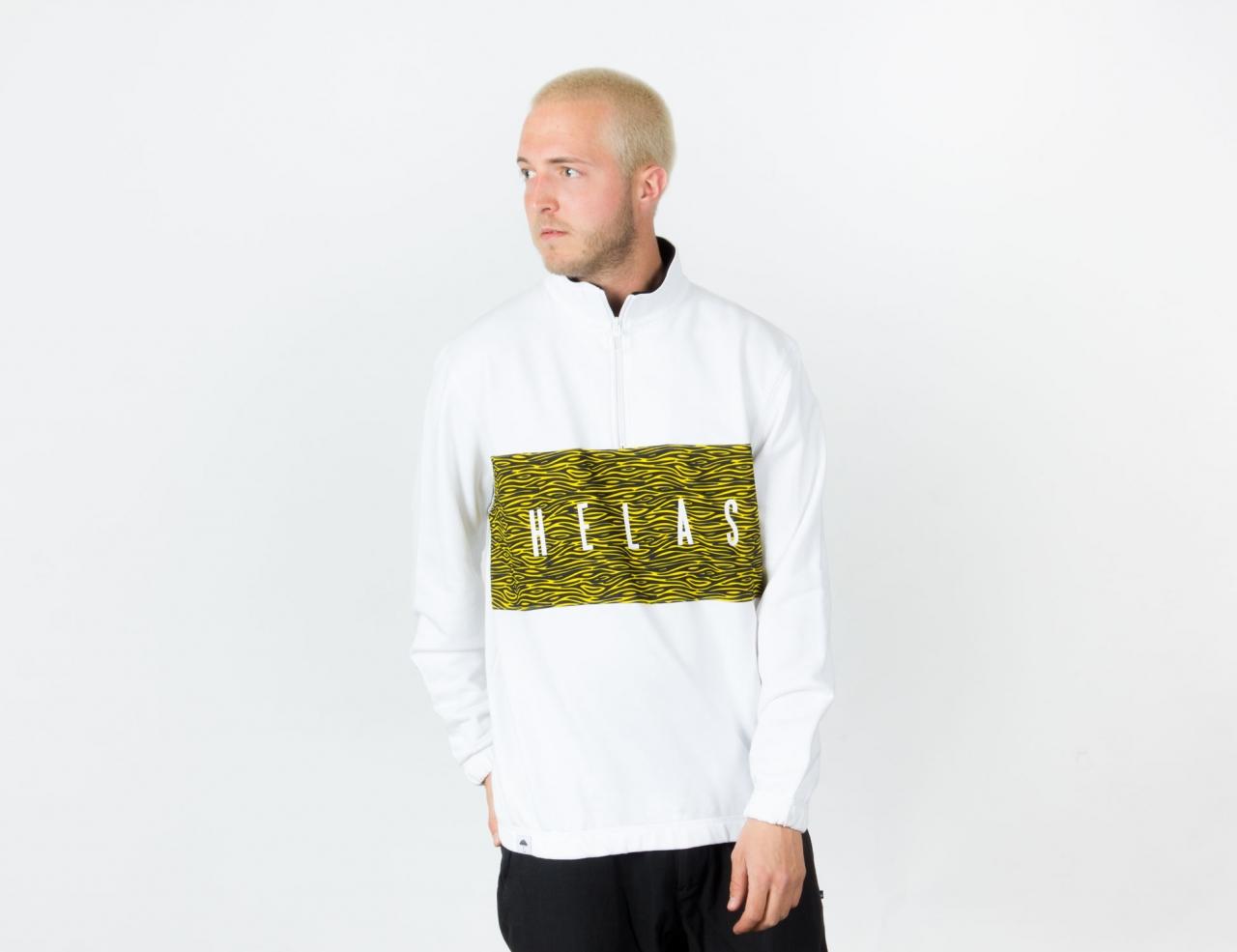 Helas Caps Jungle Quarter Zip - White