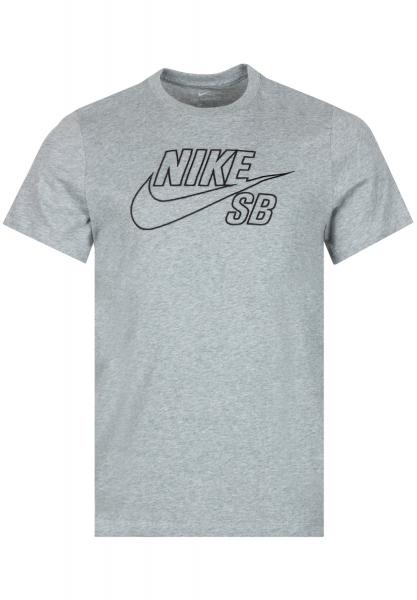 Nike SB Shirt - Grey Heather/Black