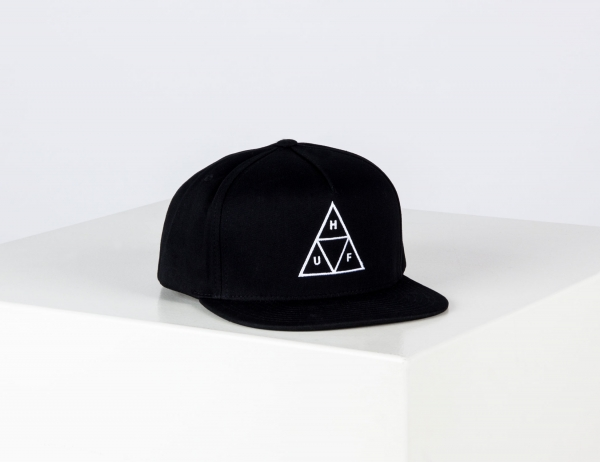 HUF Essentials TT Snapback Cap - Black