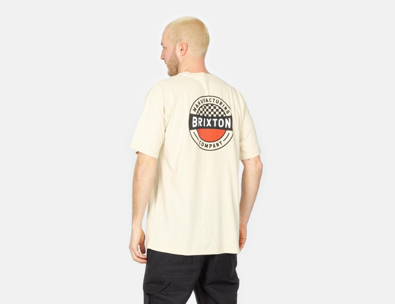 Brixton Terminal T-Shirt - Worn Wash Cream