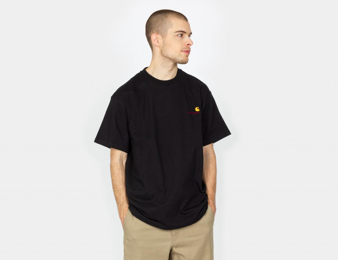 Carhartt WIP American Script T-Shirt - Black