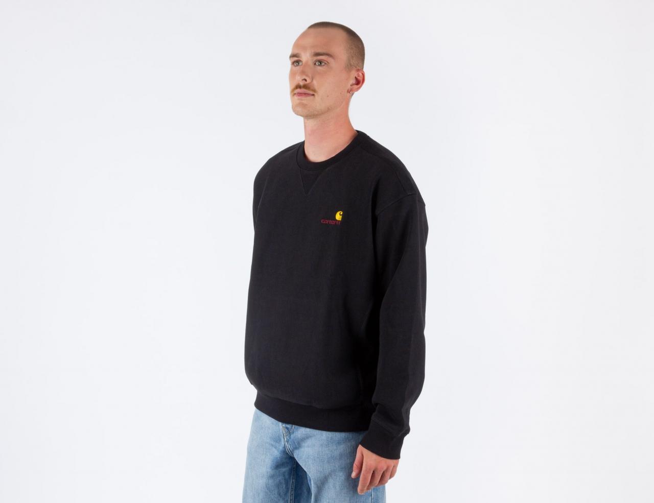 Carhartt WIP American Script Sweatshirt - Black