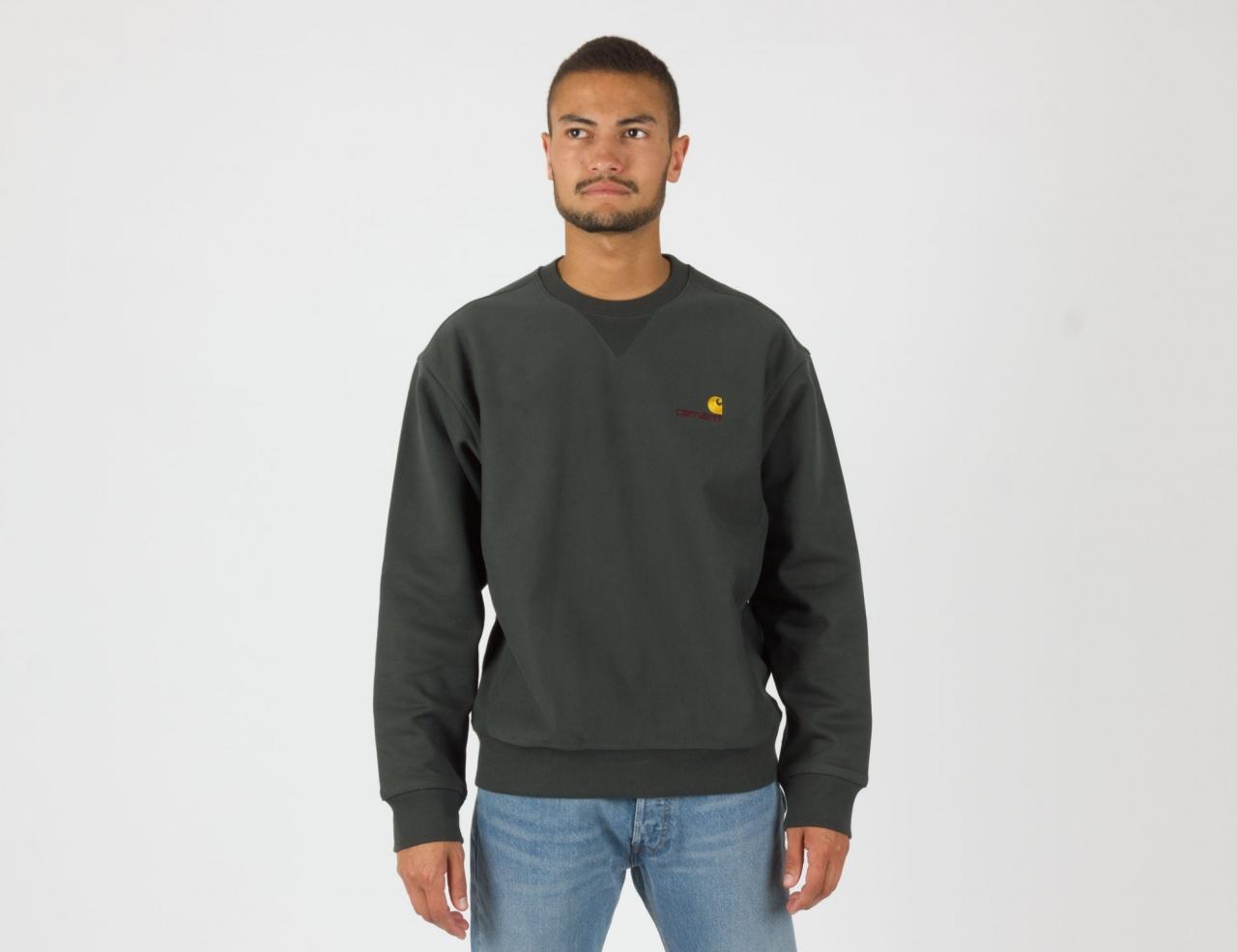 Carhartt WIP American Script Sweatshirt - Dark Teal