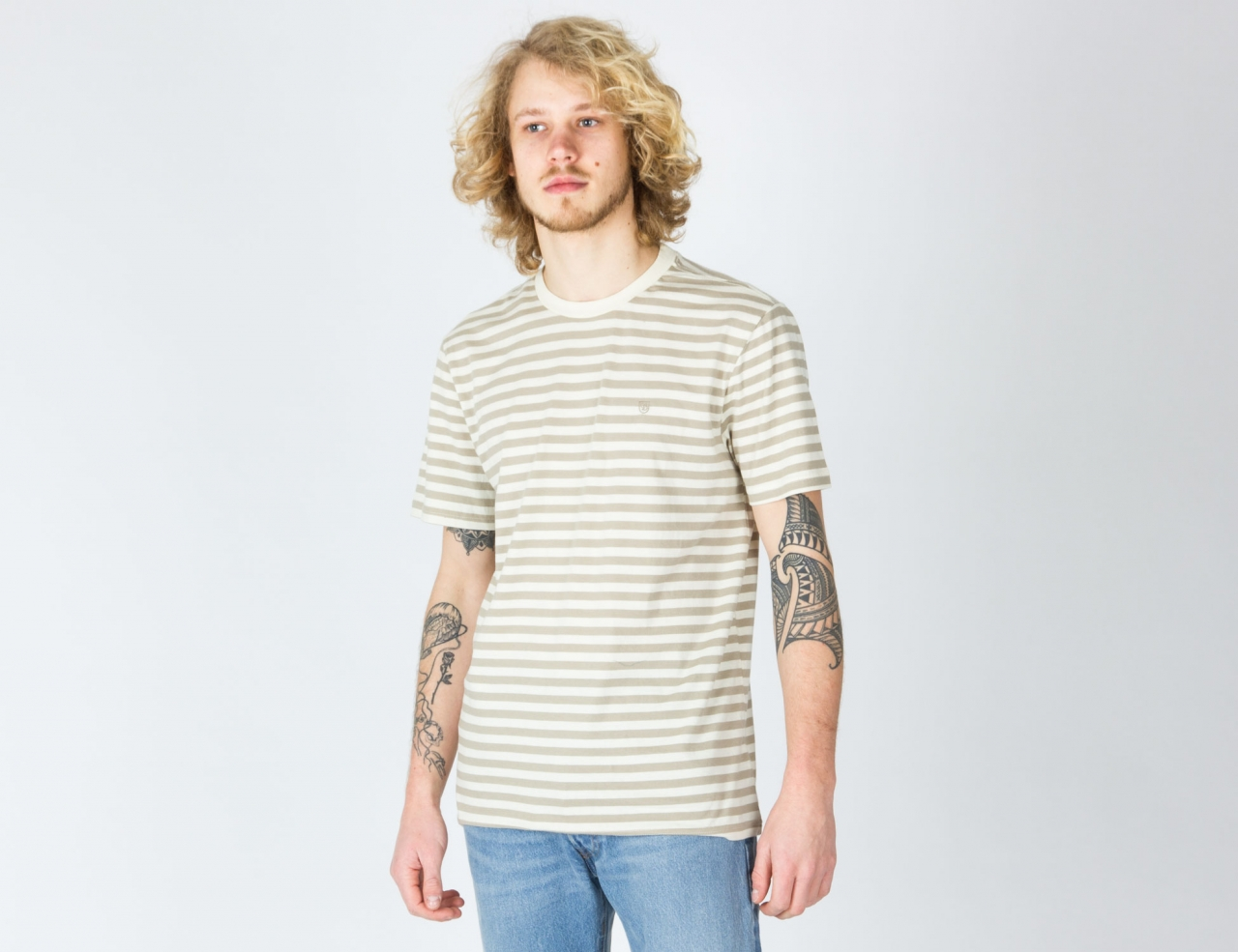 Brixton HILT MINI STRIPE S/S KNIT