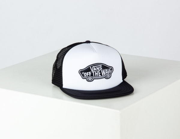 VANS Classic Patch Trucker Cap - White / Black