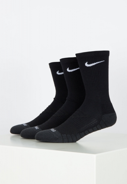Nike SB Everyday Max Cush Crew (3er) - Black