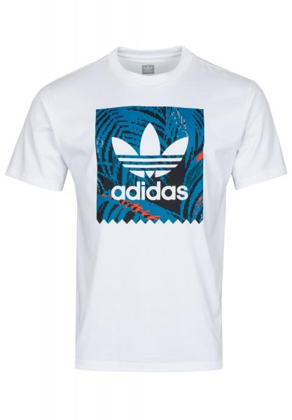 Adidas Bb Print T-Shirt 2 - White/Acttea/Actora
