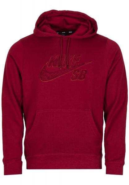 Nike SB Hoodie - Red/Red