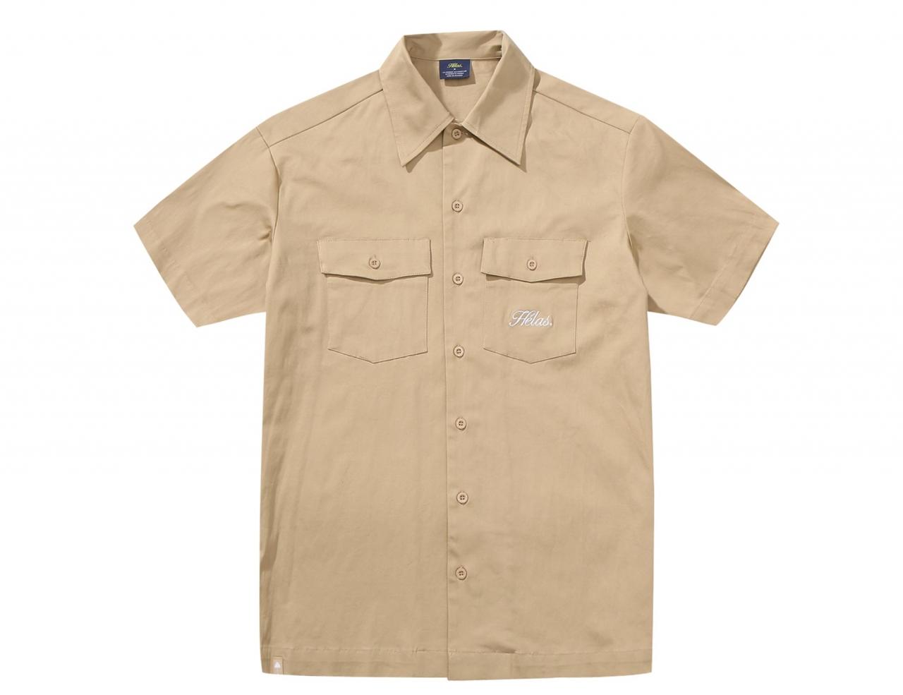 Helas Caps Low Ride Shirt - Beige