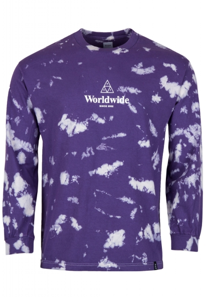 HUF Tt Worldwide Tiedye Longsleeve - Purple