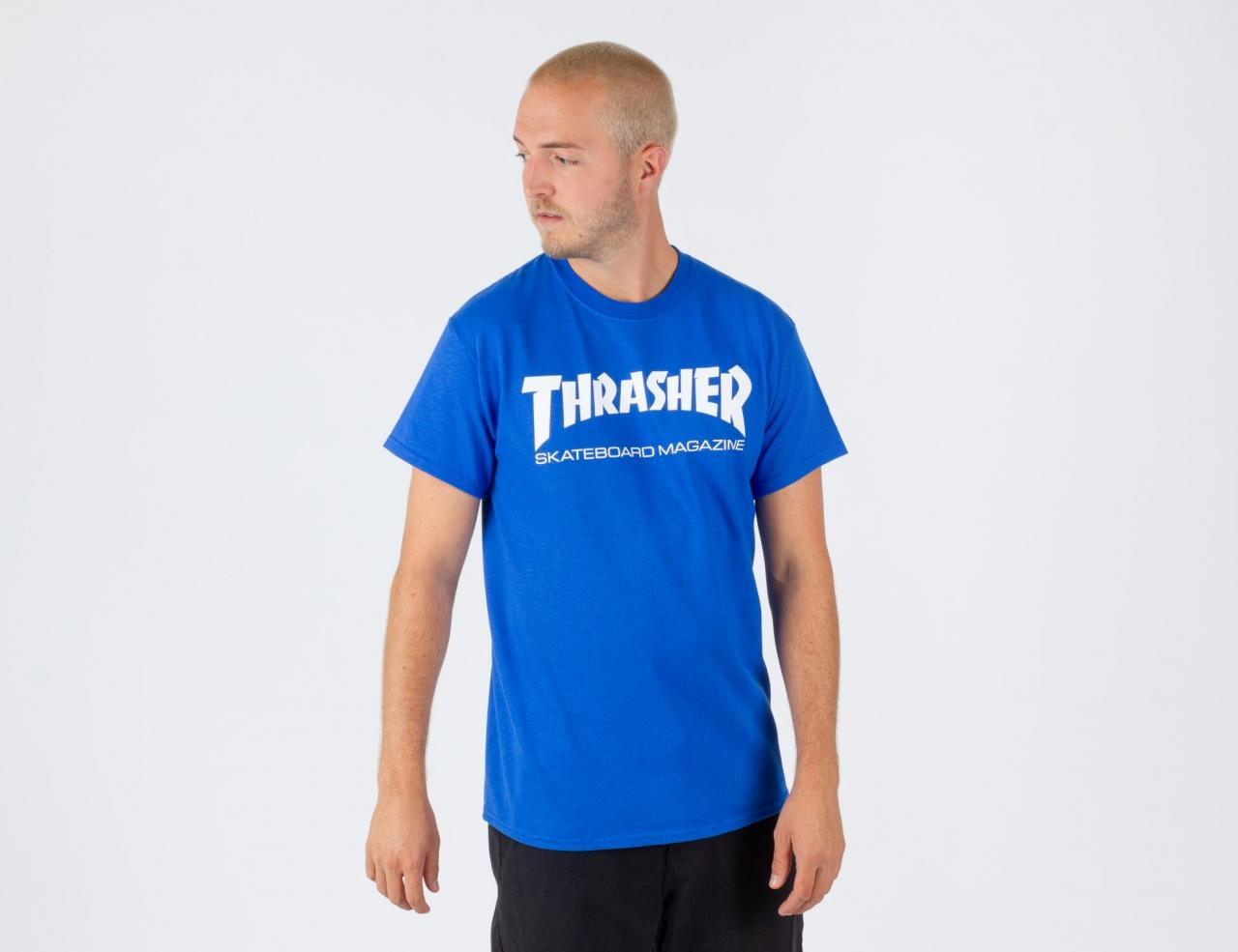 Thrasher Skate Mag T-Shirt-Royal