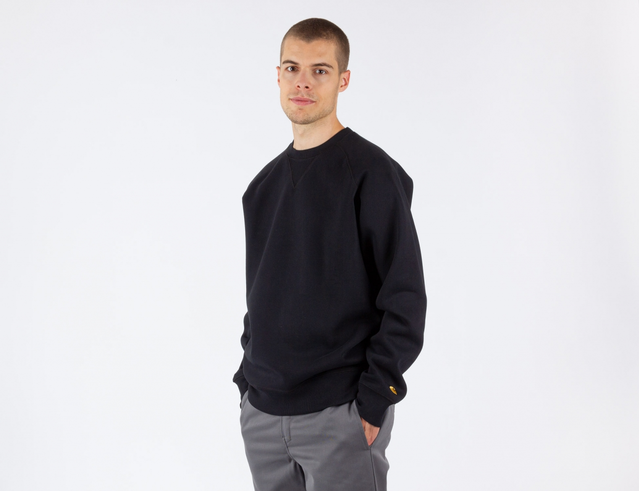 Carhartt WIP Chase Sweat - Black/Gold