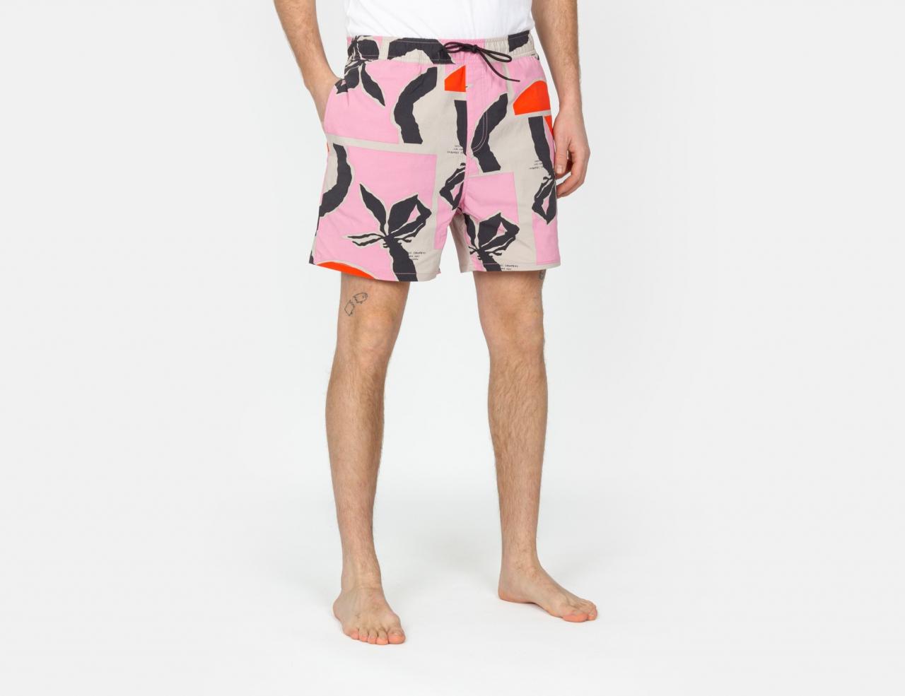 Brixton Voyage Shorts - Pink / Red