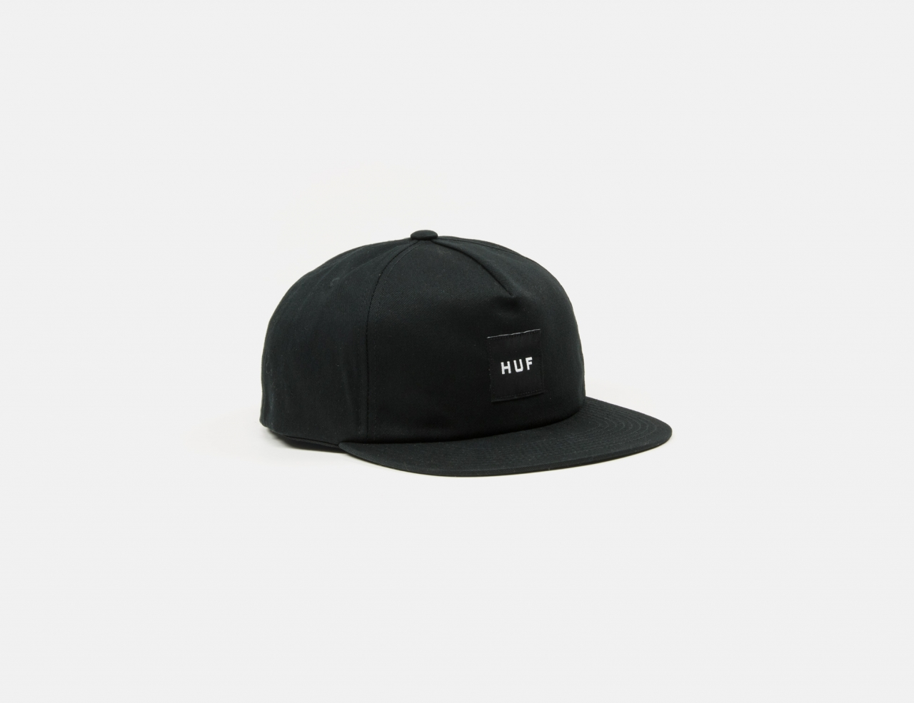 HUF Essentials Unstructured Box Snapback Cap - Black