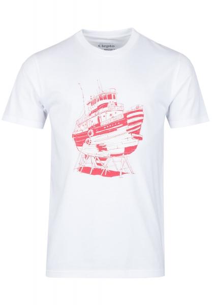 Cleptomanicx Luxusliner T-Shirt - White
