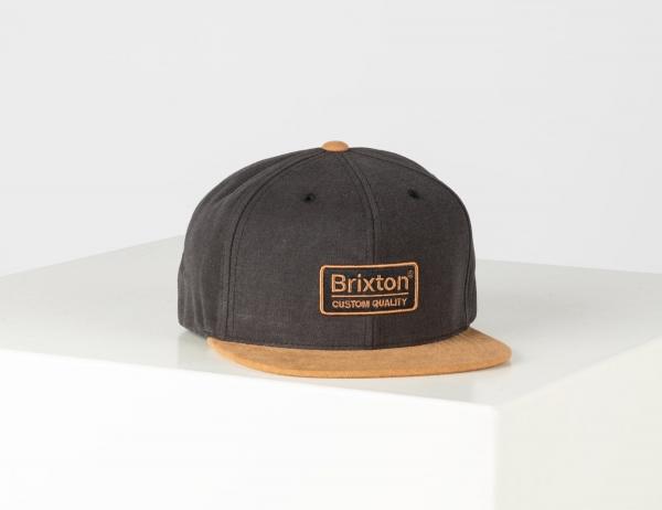 Brixton Palmer III Mp Snapback Cap - Amber / Black