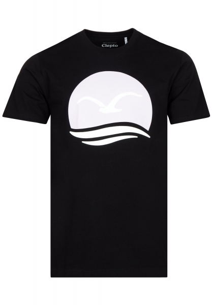 Cleptomanicx Big Mocean T-Shirt