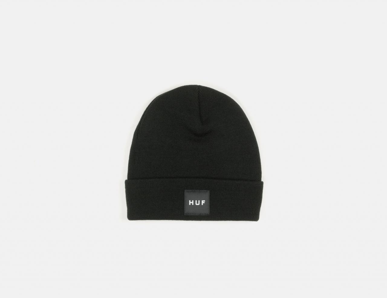 HUF Box Logo Beanie - Black