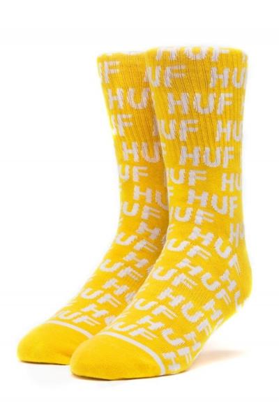 HUF Transit Socks - Yellow