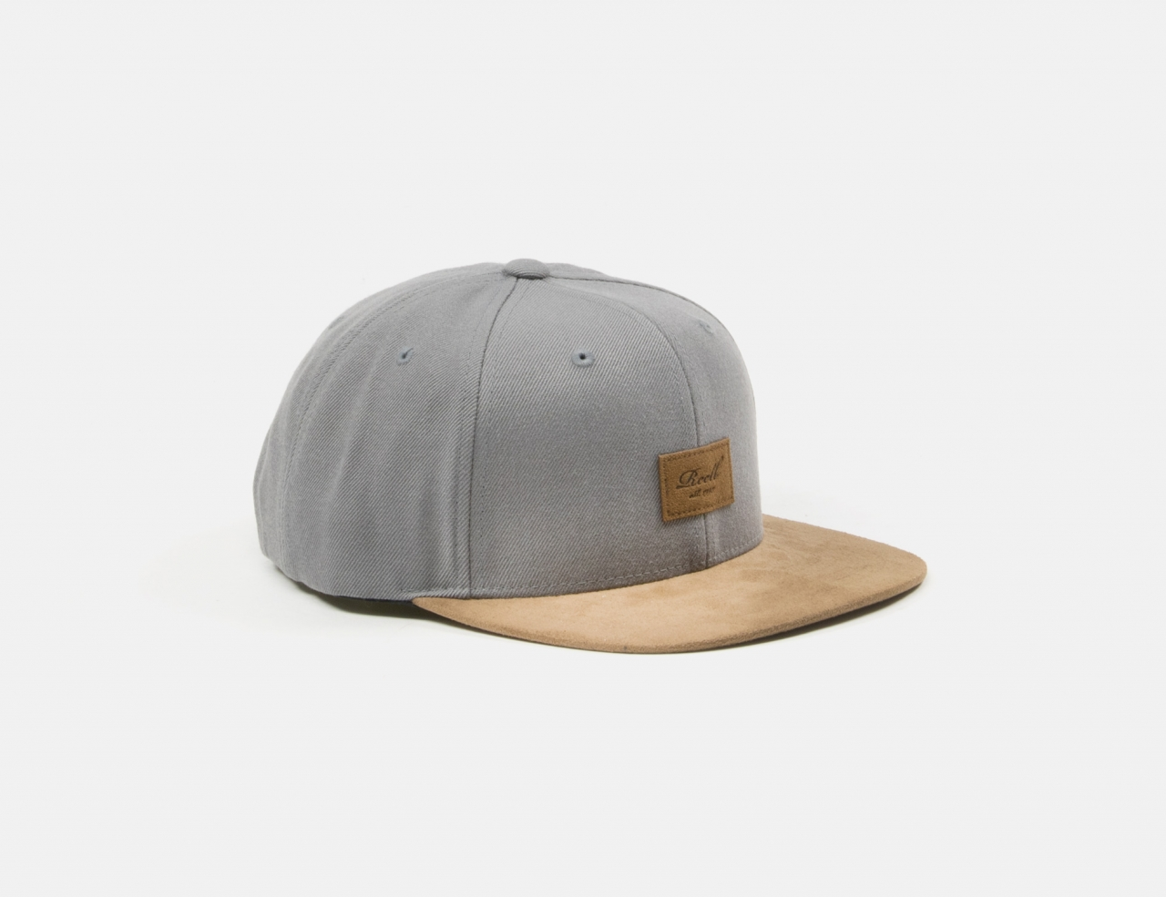 Reell Jeans Suede Snapback Cap - Light Charcoal