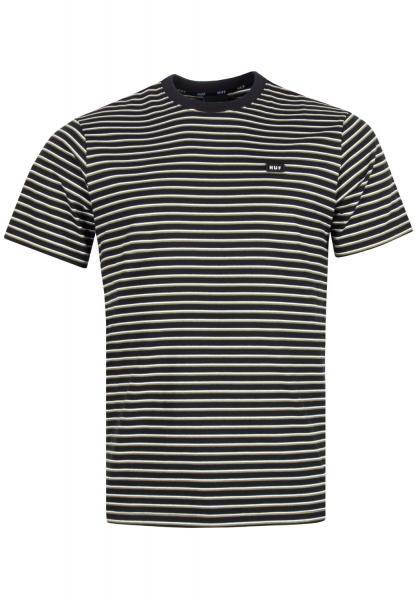 HUF Davis Striped T-Shirt - Black