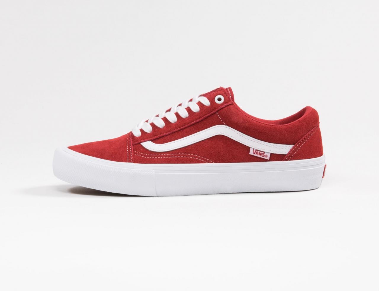 VANS Old Skool Pro (Suede) - Red/White
