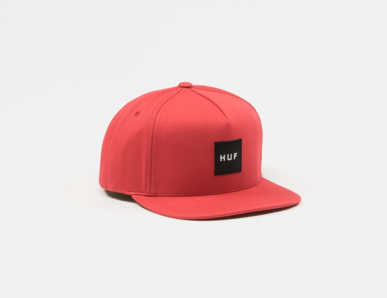 HUF Essentials Box Snapback Cap - Rio Red