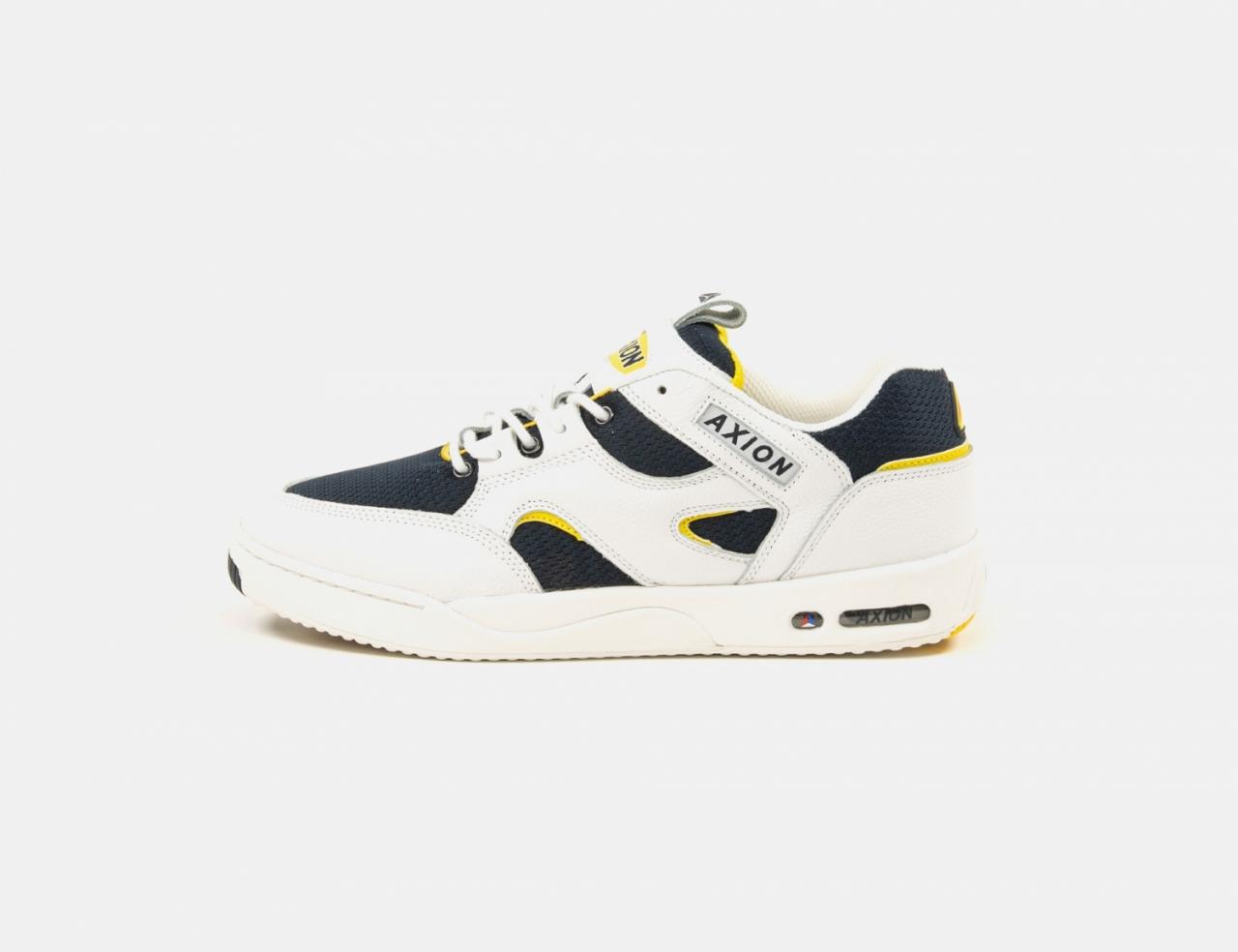 Axion Footwear Genesis OG Sneaker - White / Navy / Yellow