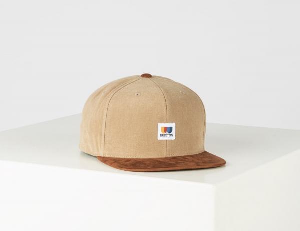 Brixton Alton Mp Snapback Cap - Dark Khaki
