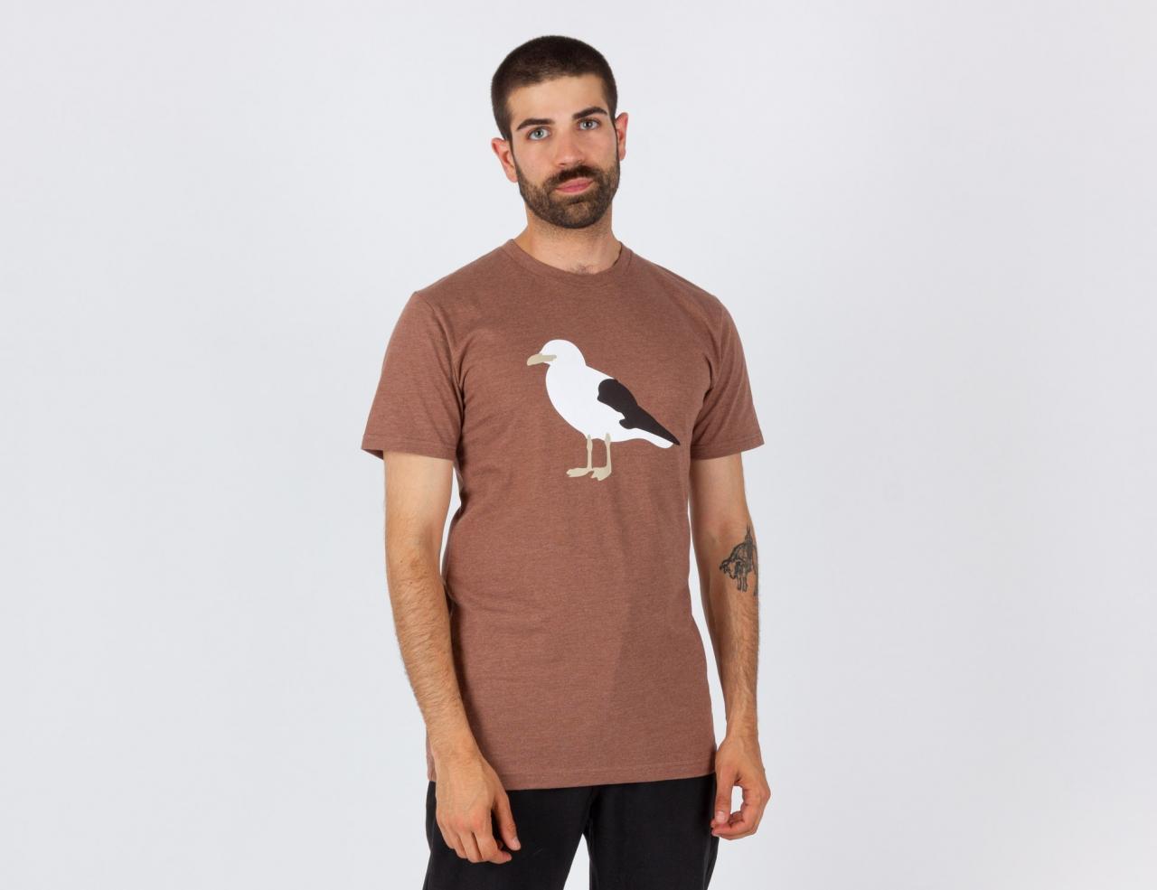 Cleptomanicx Gull T-Shirt - Heather Brown