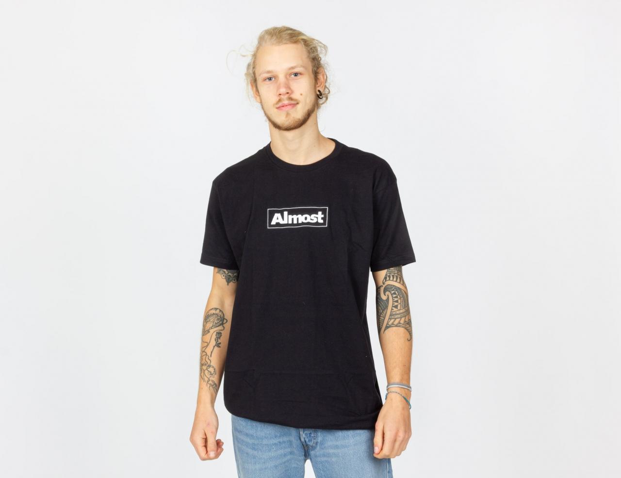Almost Remium EMB Box Shirt - Black