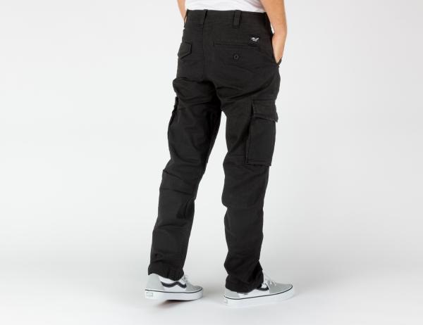 Reell Jeans Flex Cargo LC Pant-Black Canvas