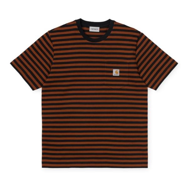 Carhartt WIP Parker Pocket T-Shirt - Black / Brandy