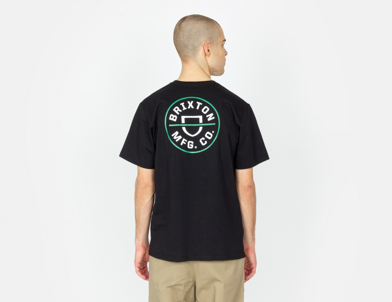 Brixton Crest X T-Shirt - Black