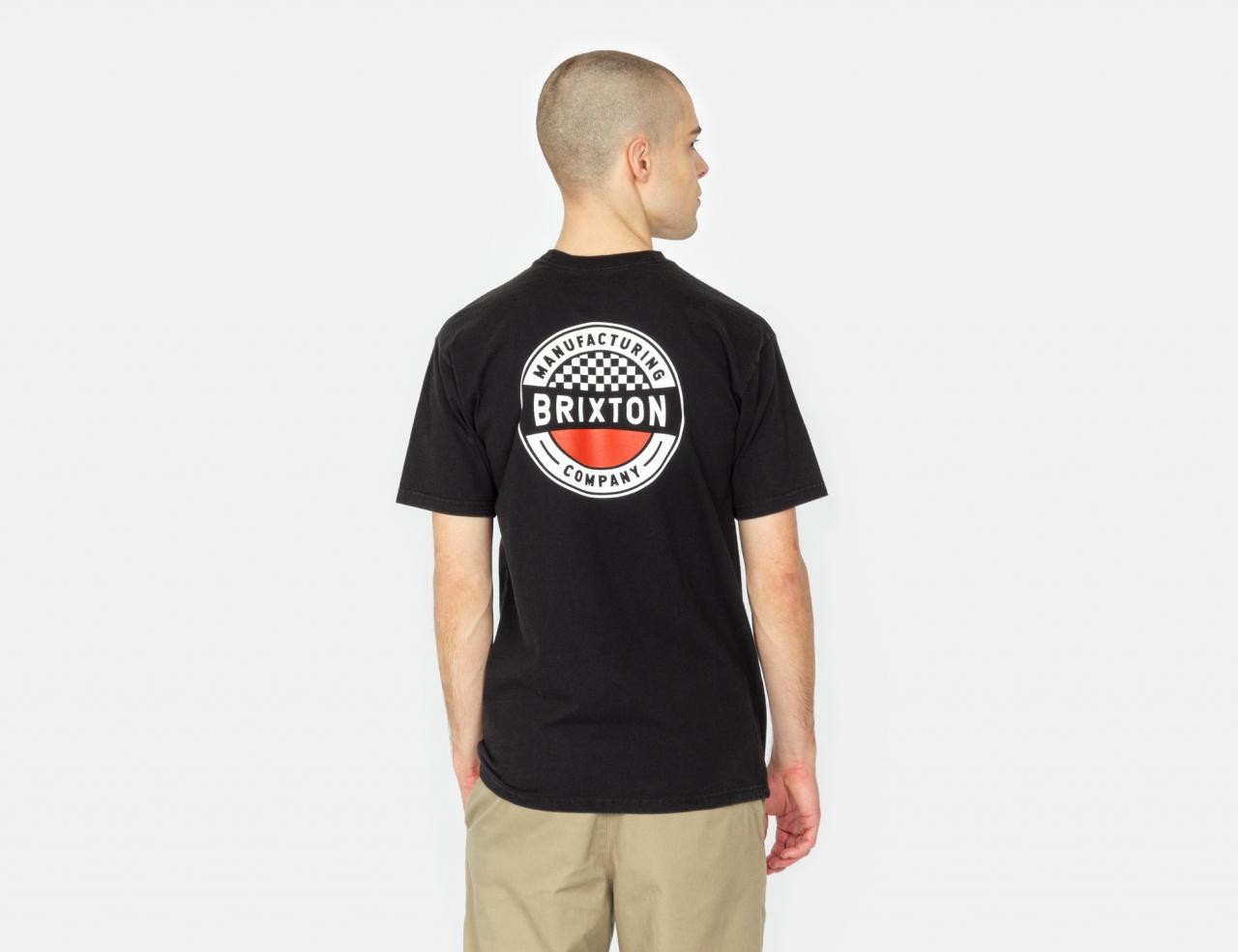 Brixton Terminal T-Shirt - Worn Wash Black