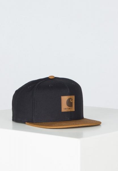 Carhartt WIP Logo Bi-Colored Cap - Black/Hamilton Brown